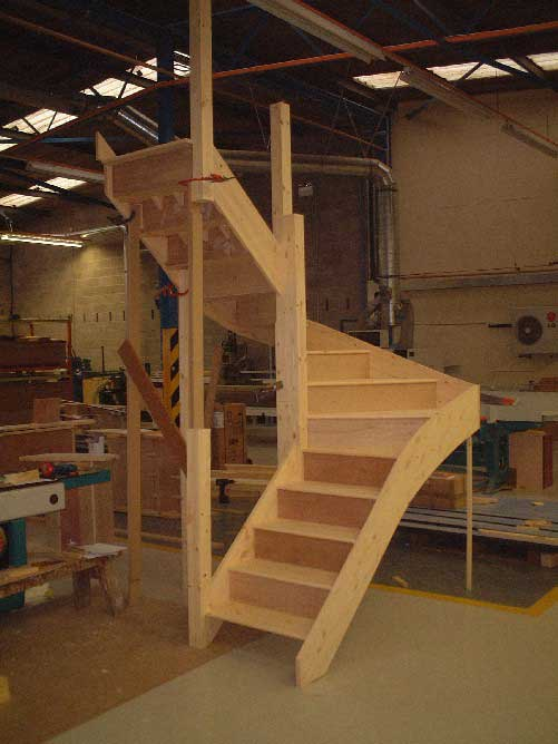Winder staircases from stairplan the manufacturers of for Pre built stairs interior