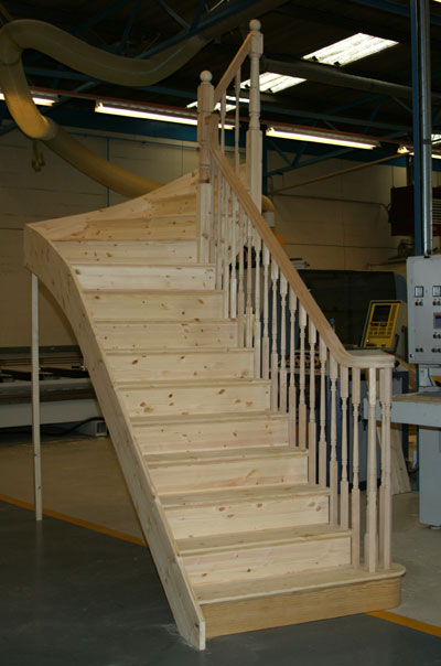 Wooden staircases staircases from stairplan the for Pre made spiral staircase