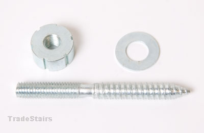 handrail bolt complete with slotted nut