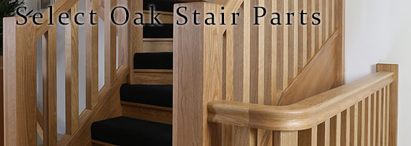 Select Oak Stair Parts White Oak Handrils