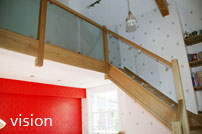 Vision glass Stair Balustrade