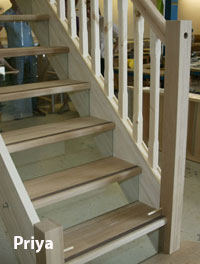 Priya Staircase With Glass Risers