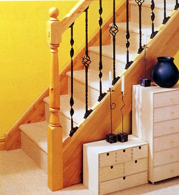Metal Balusters with Pine Stairparts