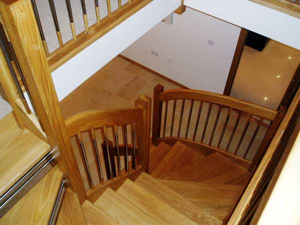 Oak Staircase European Style Handrails