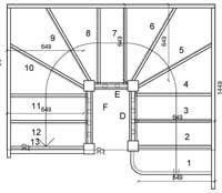 Half landing staircases top quarter landing stairs for Quarter landing staircase