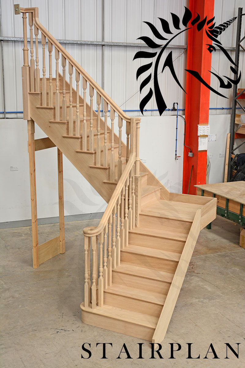 Oak Staircases produced in the uk