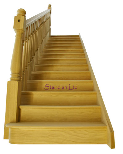 Oak Staircase with Bullnose Step