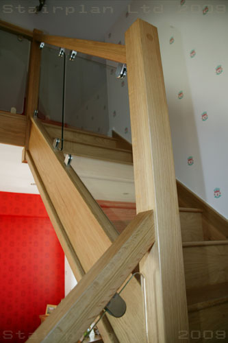 vision Balustrade on a Oak Staircase