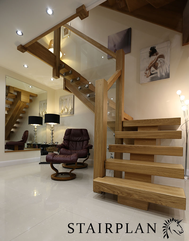 X Vision Oak Staircase Straight