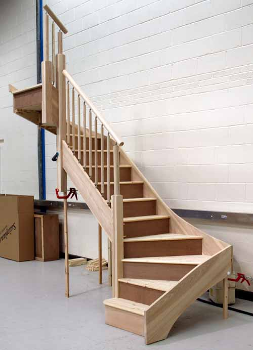 individual staircases staircases from stairplan the. Black Bedroom Furniture Sets. Home Design Ideas