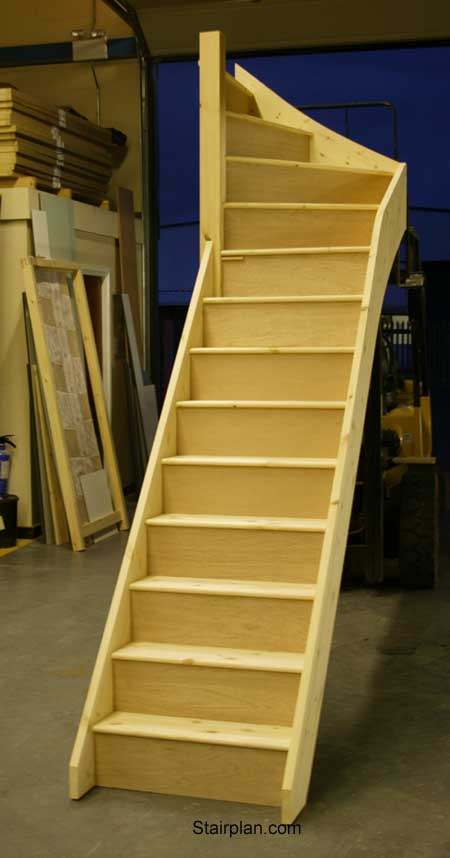 Winder staircases from stairplan the manufacturers of for Wood floor 90 degree turn