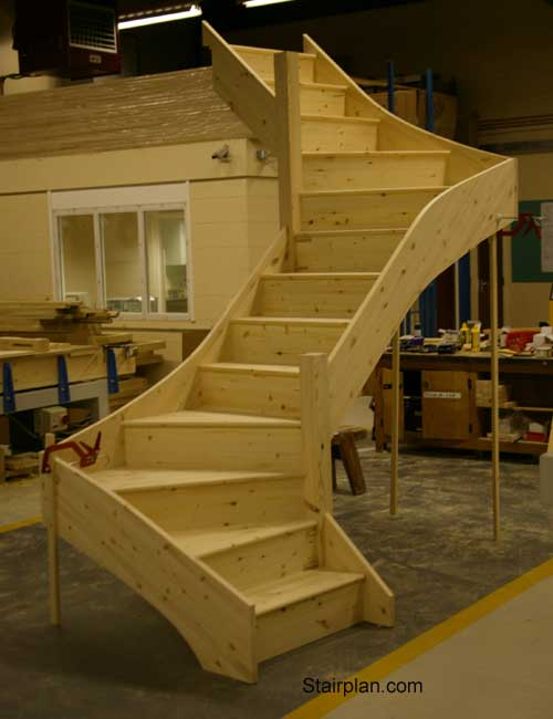 Winder staircases from stairplan the manufacturers of for Building winder stairs